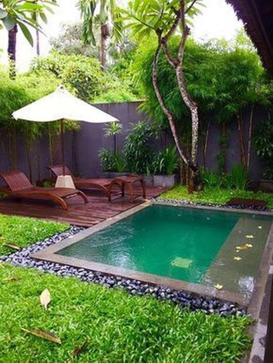 Small Swimming Pool: Stunning Earthy Pool