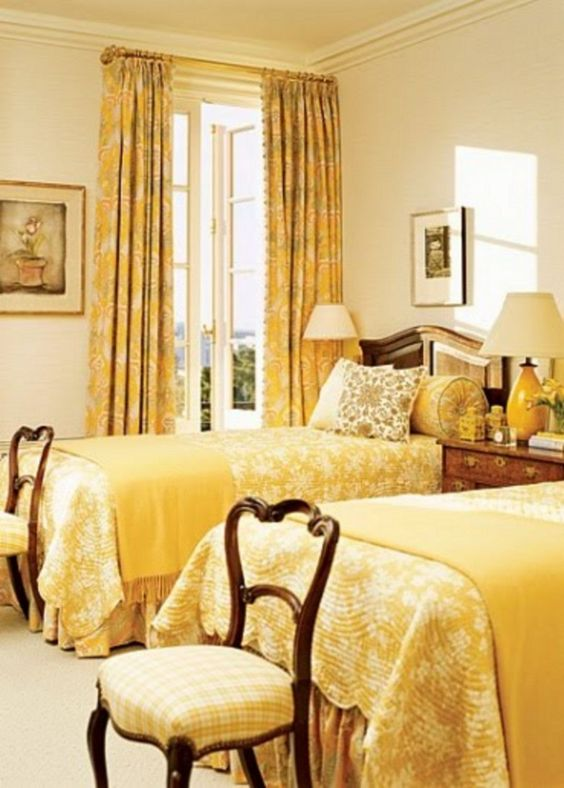 yellow bedroom ideas 24