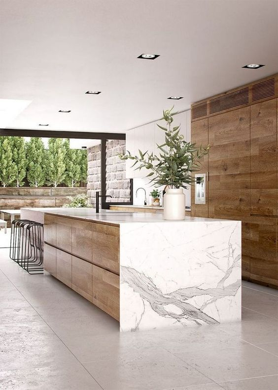 Kitchen with Islands Ideas: Modern Earthy Design