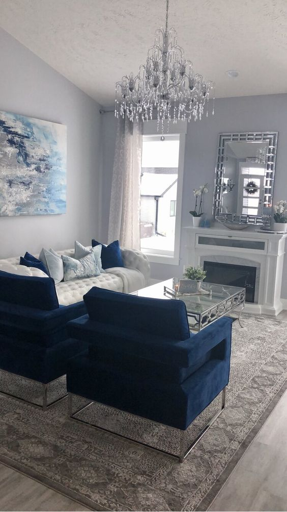 blue living room ideas 16