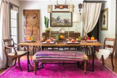 eclectic dining room feature