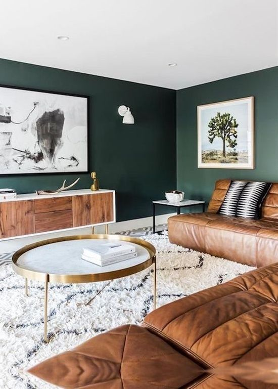 Green Living Room: Stunning Earthy Decor