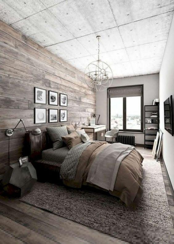 Industrial Bedroom Ideas: Modern Earthy Decor