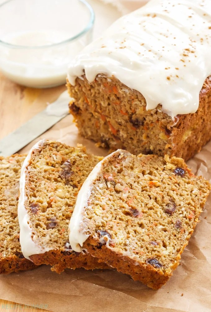 Oatmeal Carrot Cake Bread   Recipe Runner Oatmeal Carrot Cake Bread   100  whole grain  no butter or oil and loaded