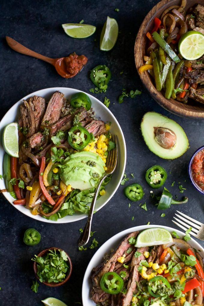 Steak Fajita Burrito Bowls