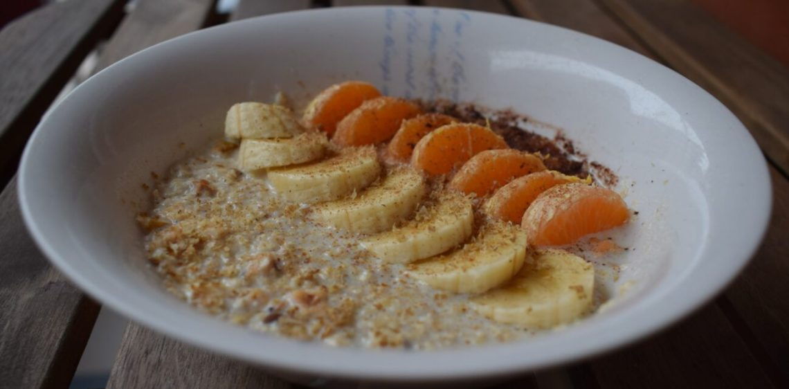 oatmeal banana and mandarin orange