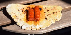 basque talo with chistorra