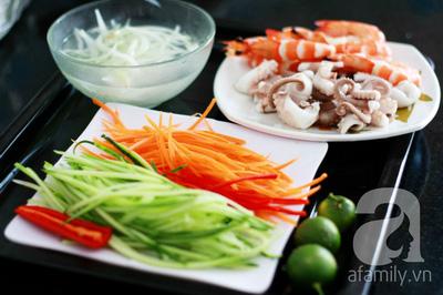 Món ngon cuối tuần: Miến trộn hải sản 9