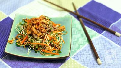 Mát giòn ngon miệng với món salad rau mầm 15