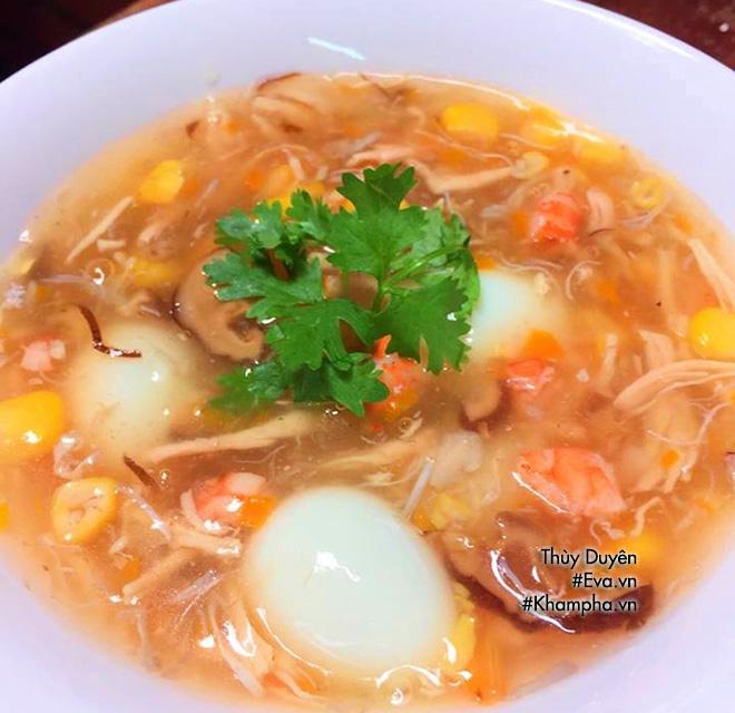 Cuối tuần mẹ chiêu đãi món súp hải sản trứng cút ngon mê ly - 12