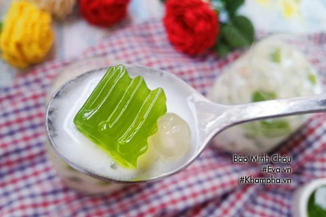 Hướng dẫn cách làm sữa chua thạch lá nếp, ăn một lần là mê - 12