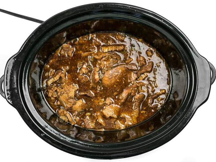 Slow Cooker Sesame Beef cooked