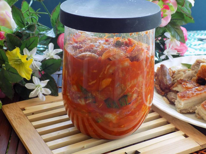 Cách làm kim chi cải thảo cà rốt thuần Việt giòn ngon - Ảnh 6.
