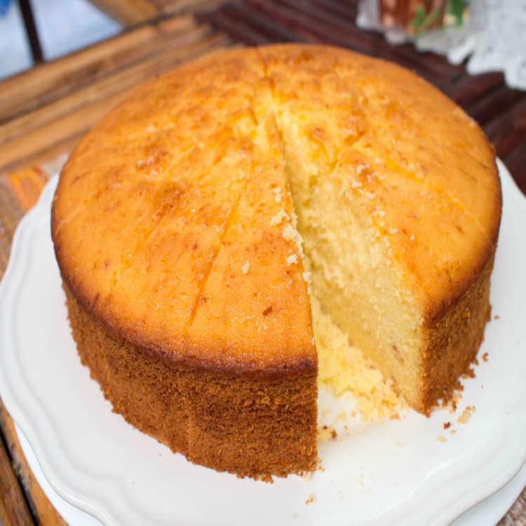 Eggless Sponge Cake Recipe How To Make Eggless Sponge Cake