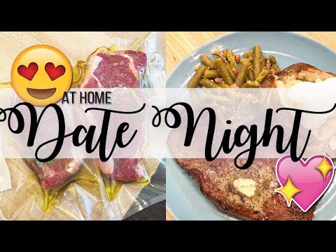 Date Night Meal at Home! Sous Vide Steak Dinner