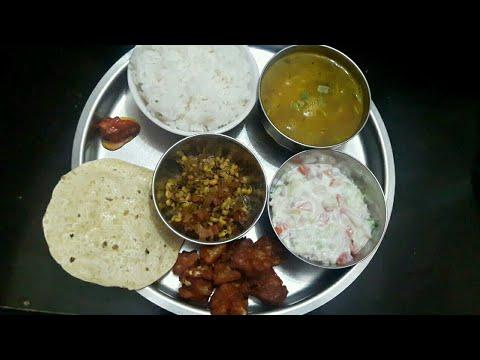Instant Simple Veg Thali Recipe / Indian Lunch or Dinner Menu Recipe Ideas