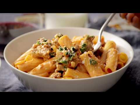 Date Night Rigatoni with Sausage and Kale