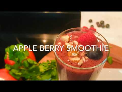 Vlog #34: Apple Berry Smoothie   Healthy Smoothie Recipe   Breakfast Smoothie