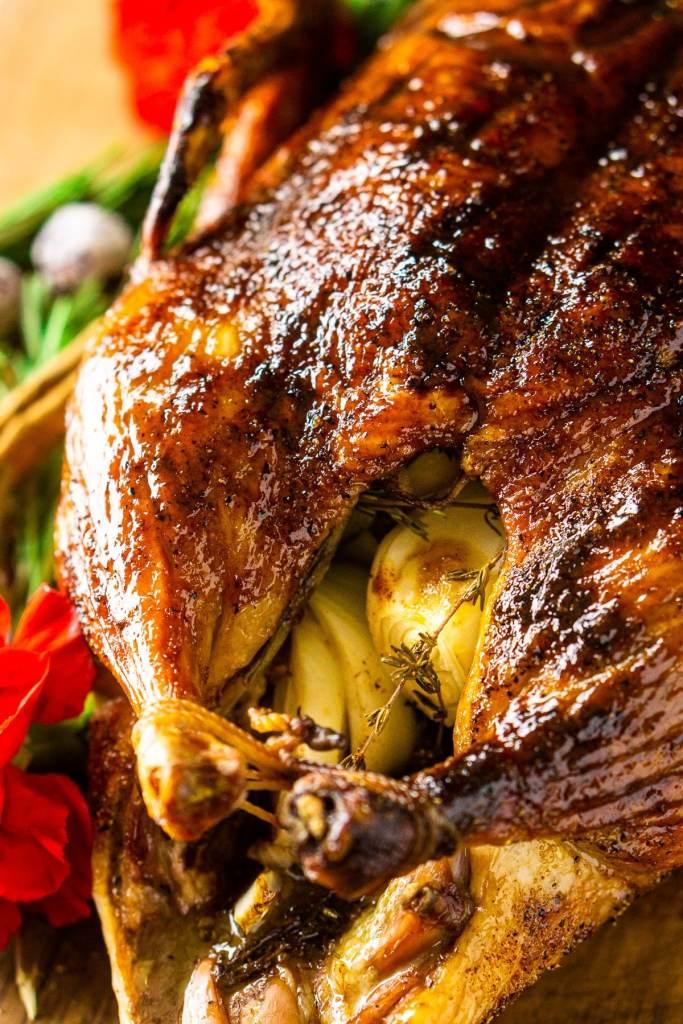 Christmas Roast Duck With Cranberry-Orange Glaze recipe