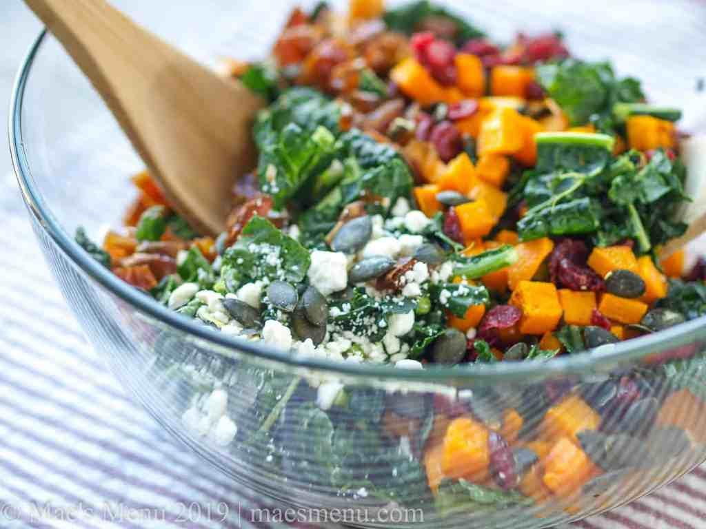 Lacinato Kale Salad with Butternut Squash & Dates Recipe