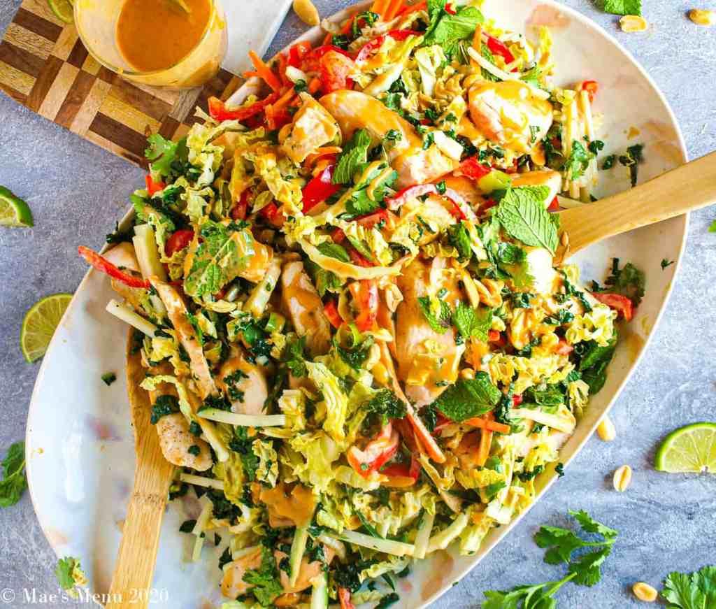 Thai Grilled Chicken Salad with Peanut Dressing Recipe