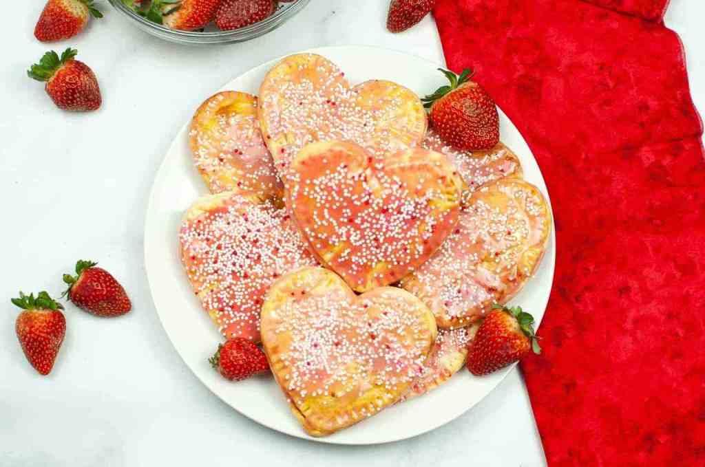 Air Fryer Valentine's Day Strawberry Pop Tarts recipe