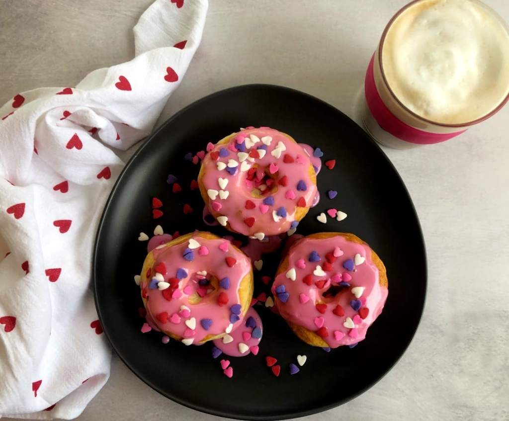 Air Fryer Valentine's Day Doughnuts recipe