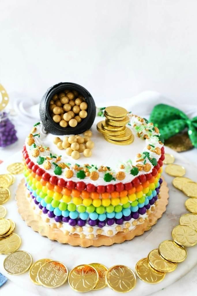 St. Patrick's Day Pot of Gold Rainbow Cake recipe