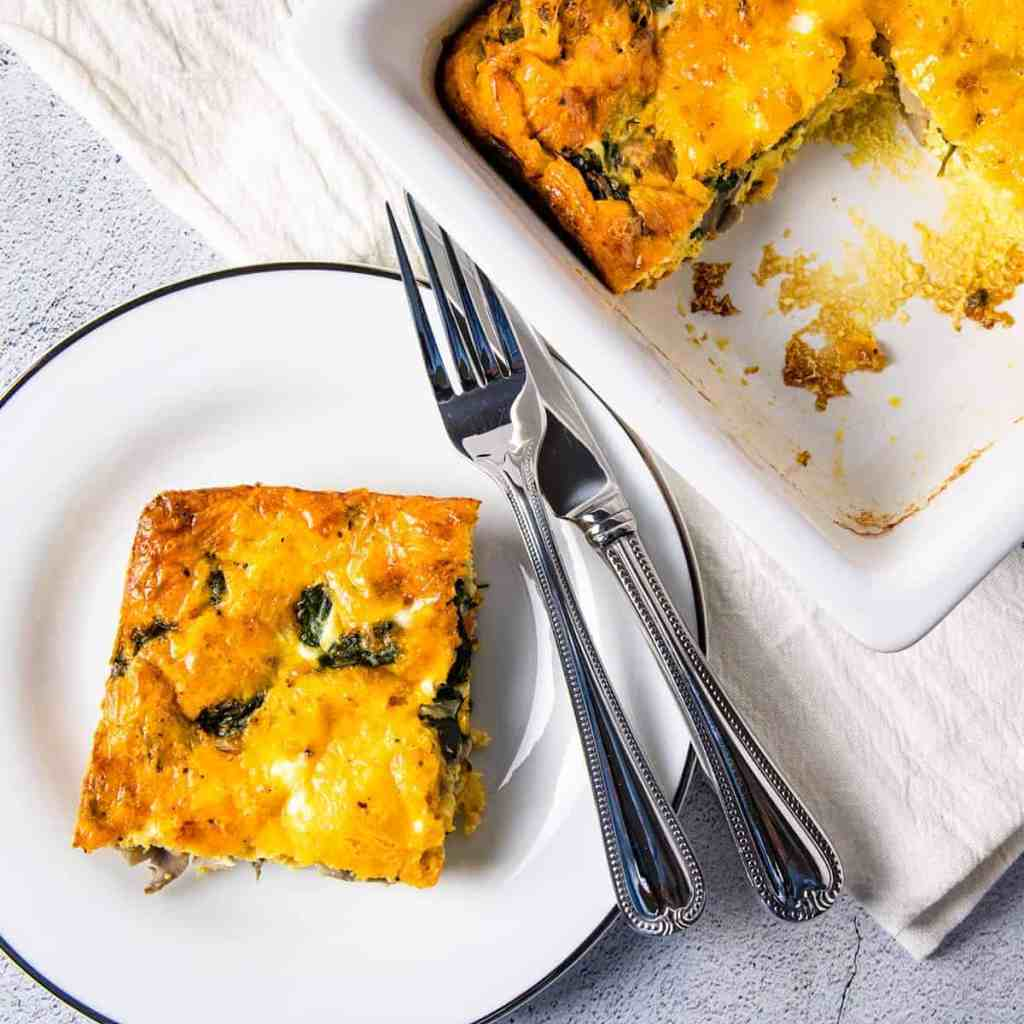 spinach and mushroom breakfast casserole recipe