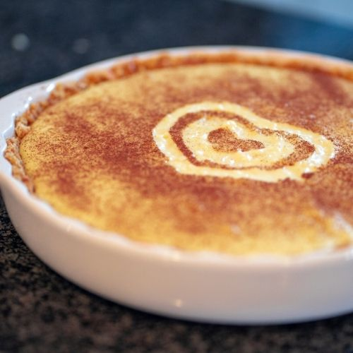 easy milk tart, milk tart recipe, south african milk tart, how to make a milk tart