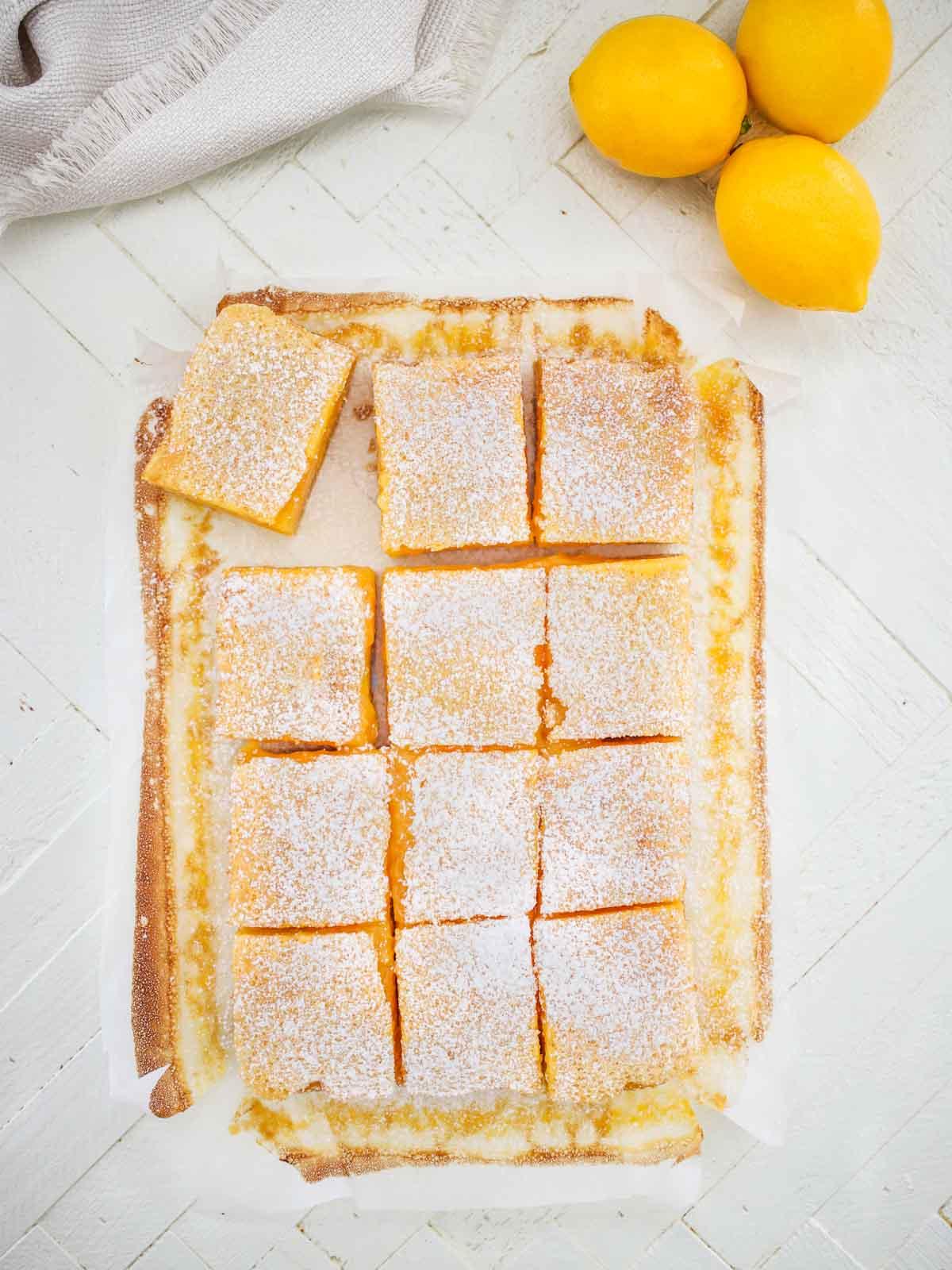 Sliced Lemon Bars