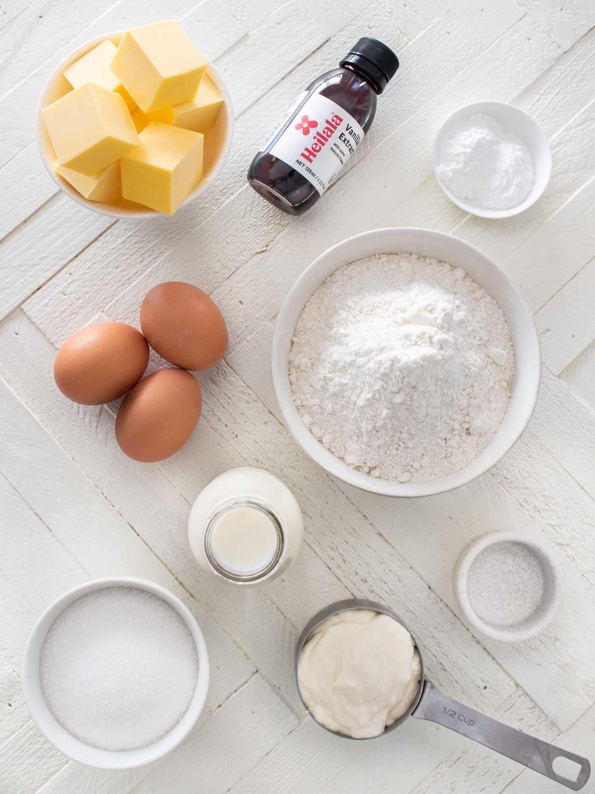 Vanilla Cake Ingredients