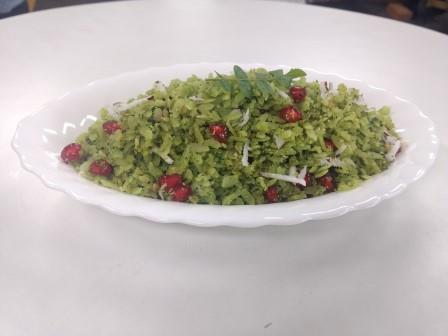 Hariyali Poha –  Greenery Flattened Rice