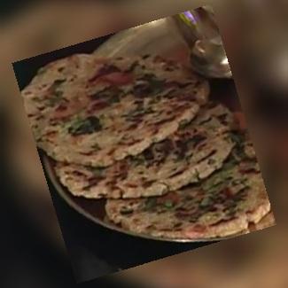 Tikkar – Rajashthani Flat Bread –  Spiced Flat Bread