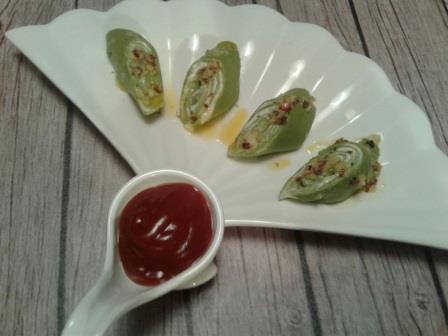 Cheese Spinach Khandvi