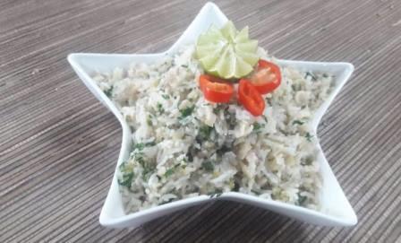Lemon Coriander Cauliflower Rice