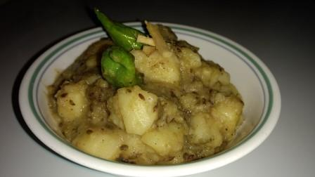 Batata nu Aadu varu Shak / Ginger Potato