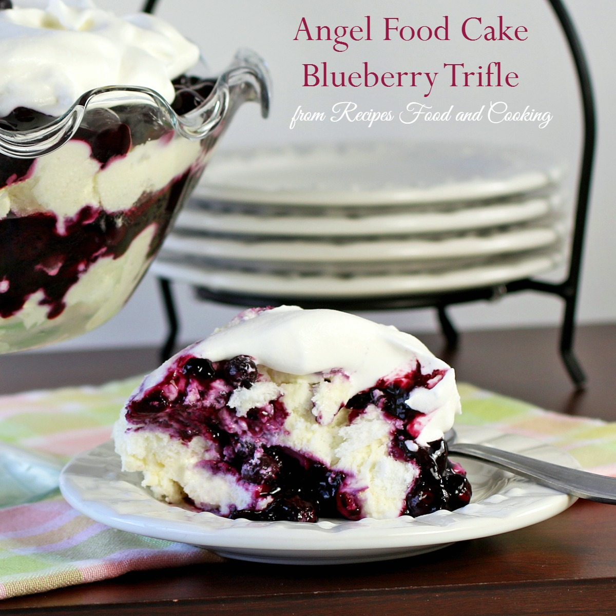 Angel Food Cake Blueberry Trifle Recipes Food And Cooking