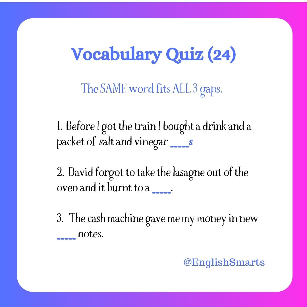 Quick Vocabulary Quiz (24)