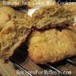 Banana Nut Cake Mix Cookies
