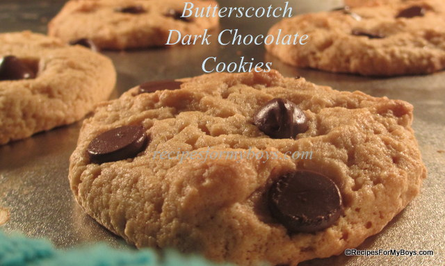 You are currently viewing Butterscotch Dark Chocolate Chip Cookies