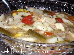 Chicken Stew with Rhodes Dumplings