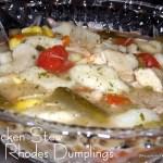 Chicken Stew with Rhodes Dumplings