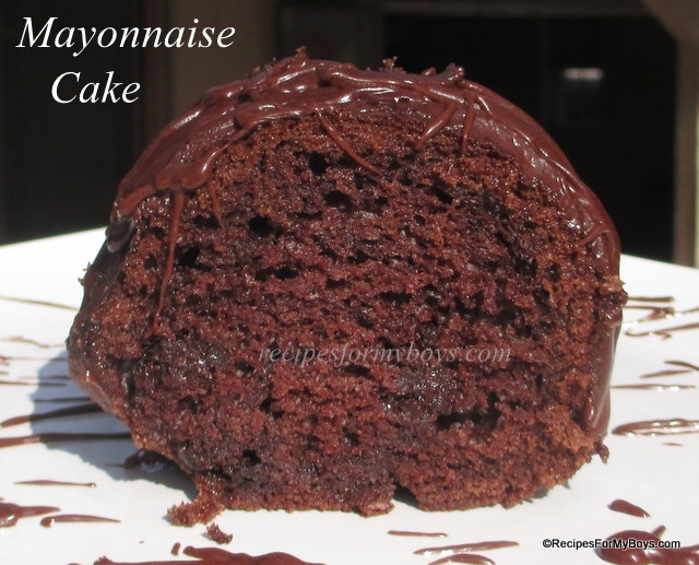 Devil's Food Mayonnaise Cake