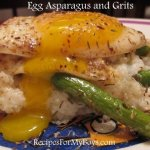 Egg Asparagus and Grits