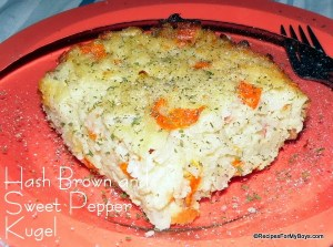 Hash Brown and Sweet Pepper Kugel