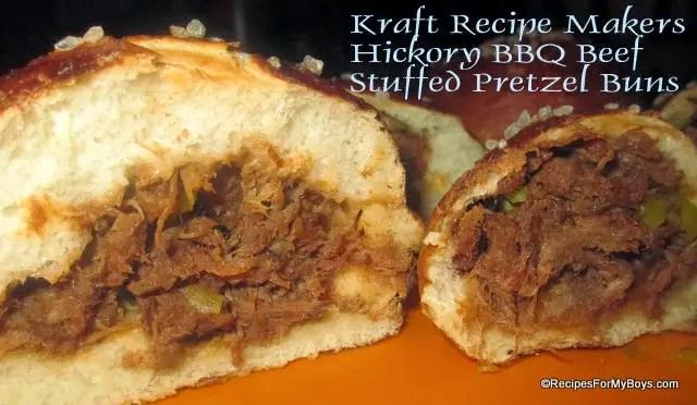 Hickory BBQ Beef Stuffed Pretzel Buns