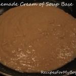 Homemade Cream of Soup Base