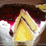 Read more about the article Lemon Buttermilk Refrigerator Cake with Lemon Cream Cheese Frosting and Blueberry Topping