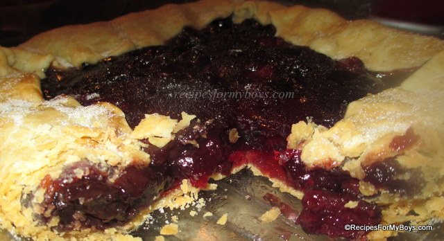Microwave Cherry Pie Filling and Cherry Pie